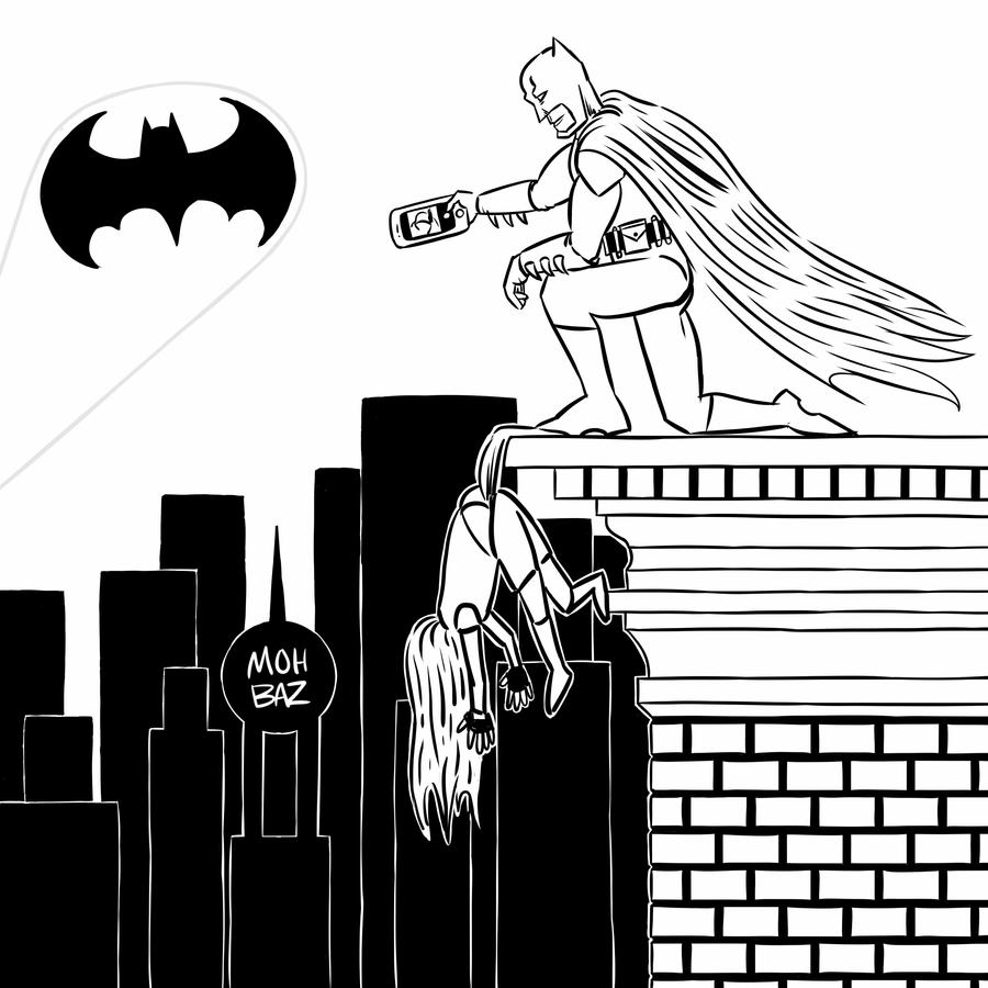 Batman And Robin Wedgie Coloring Book Variant By ItsMohBaz