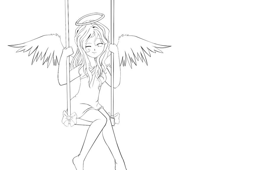Раскраска аниме ангелы 152