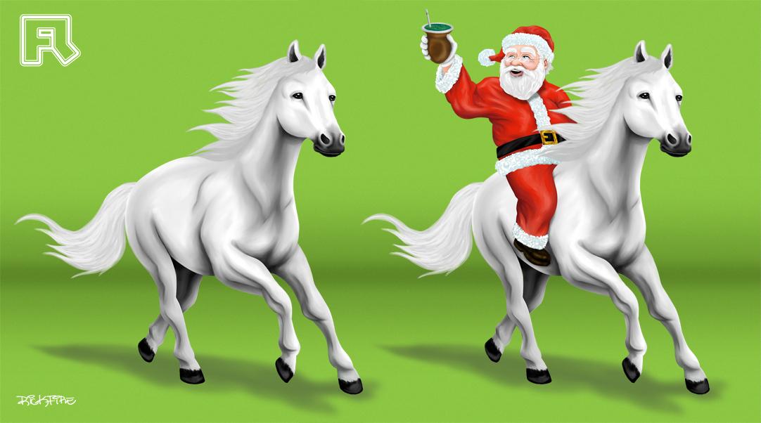 Cavalo Branco + Papai Noel by fireinda