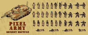 pixel army: desert edition by zchizzerz