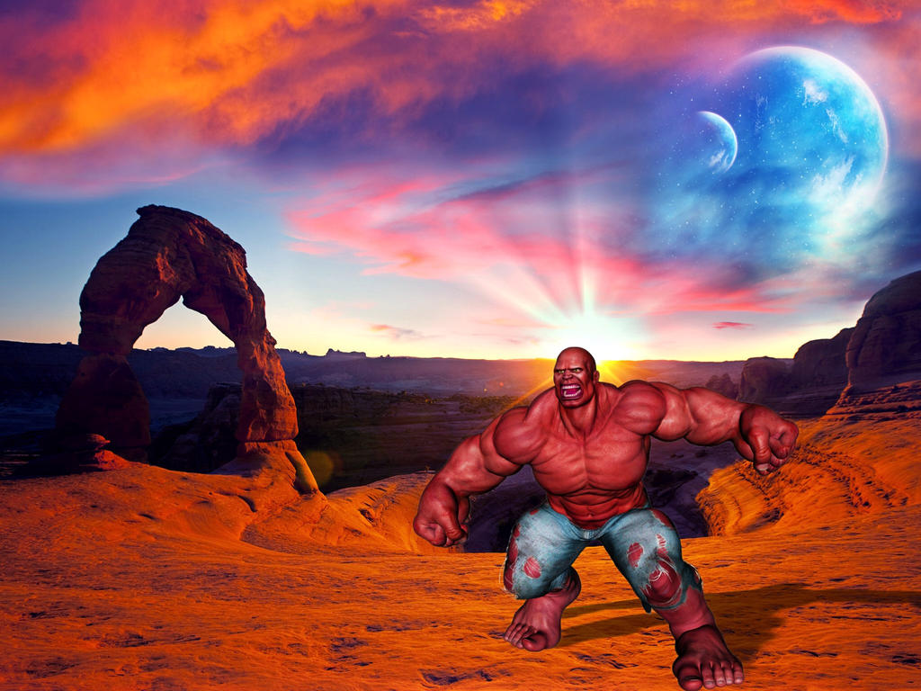 The Red Hulk by Molebut