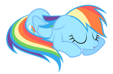 Rainbow Dash - cutest snooze ever