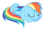 Rainbow Dash - cutest snooze ever
