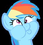 Rainbow's Derpy impression