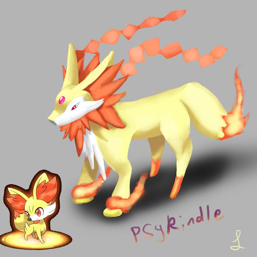 Pokemon X and Y-fennekin Fake final evo psykindle by metalliam