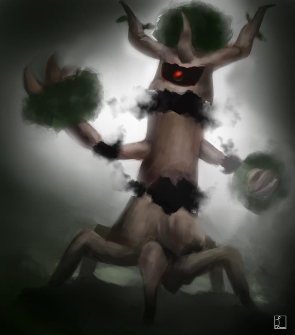 Kalos pokemon- Trevenant by metalliam