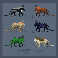 Big feline adopts -OPEN- by Chippie18-Adoptables