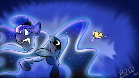 Luna Encounters an Old Friend. by Bow2YourWaifu