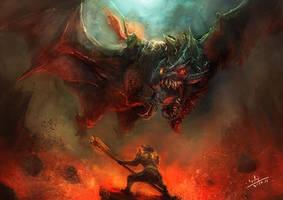 Dragon Knight by xiaoxinart