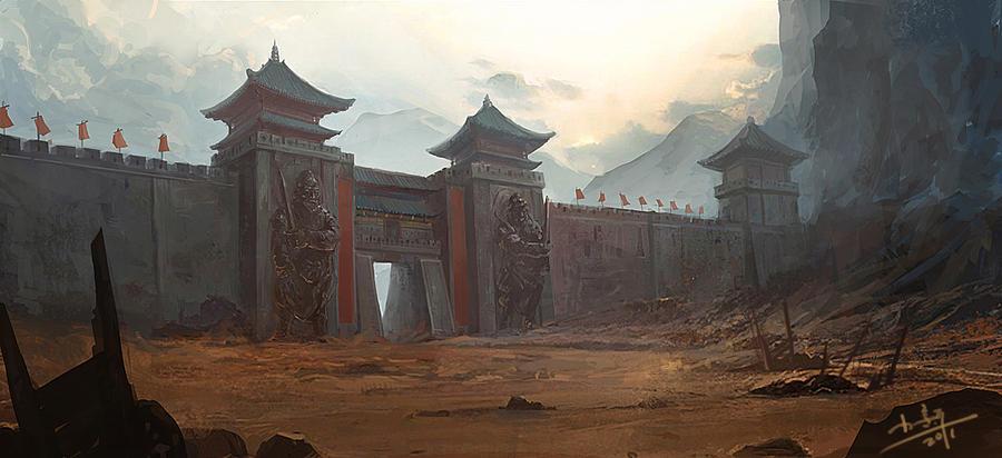 yanmenguan by xiaoxinart