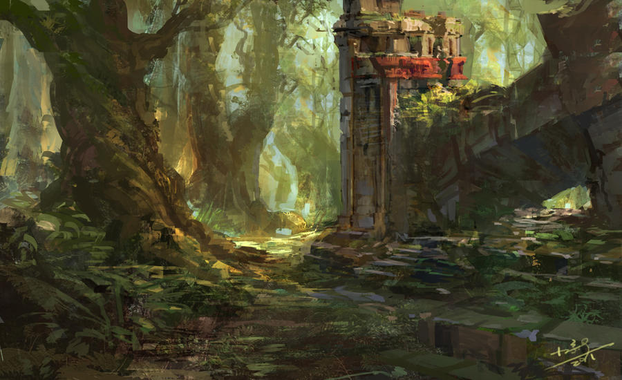 Ancient woods by xiaoxinart