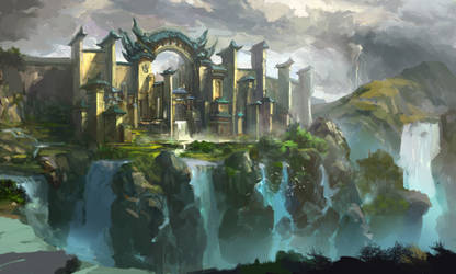 water city by xiaoxinart