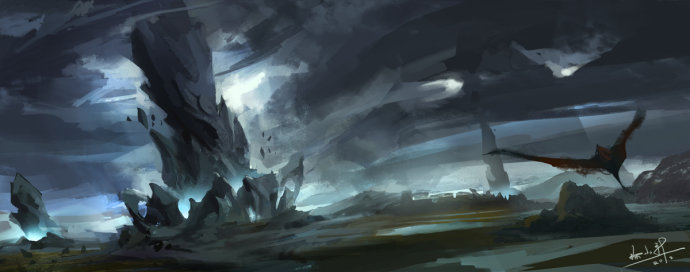 land by xiaoxinart