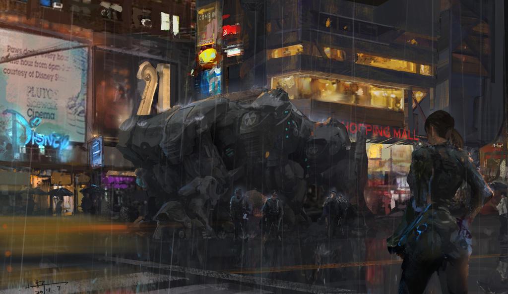 rain by xiaoxinart