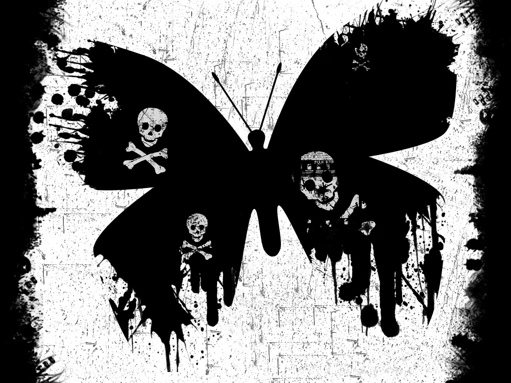 grunge butterfly.. by parodyofapathy