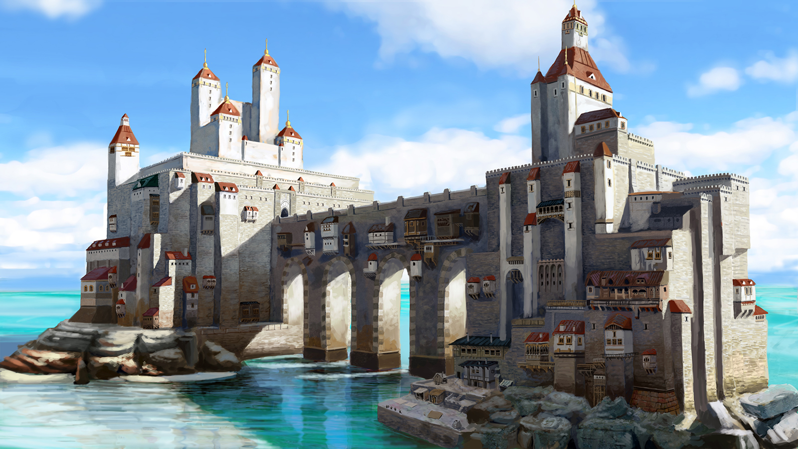 Sea Castle by Skaya3000