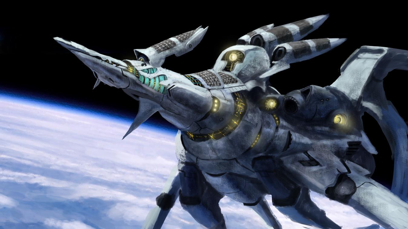 Alien Space Ship by Skaya3000