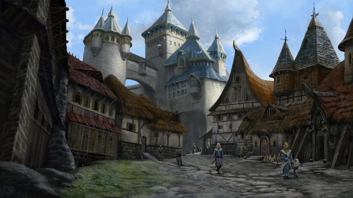 Quiet Elven Town by Skaya3000