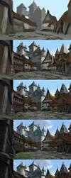 Elven Town step by step by Skaya3000