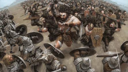 Barbarian Charge by Skaya3000