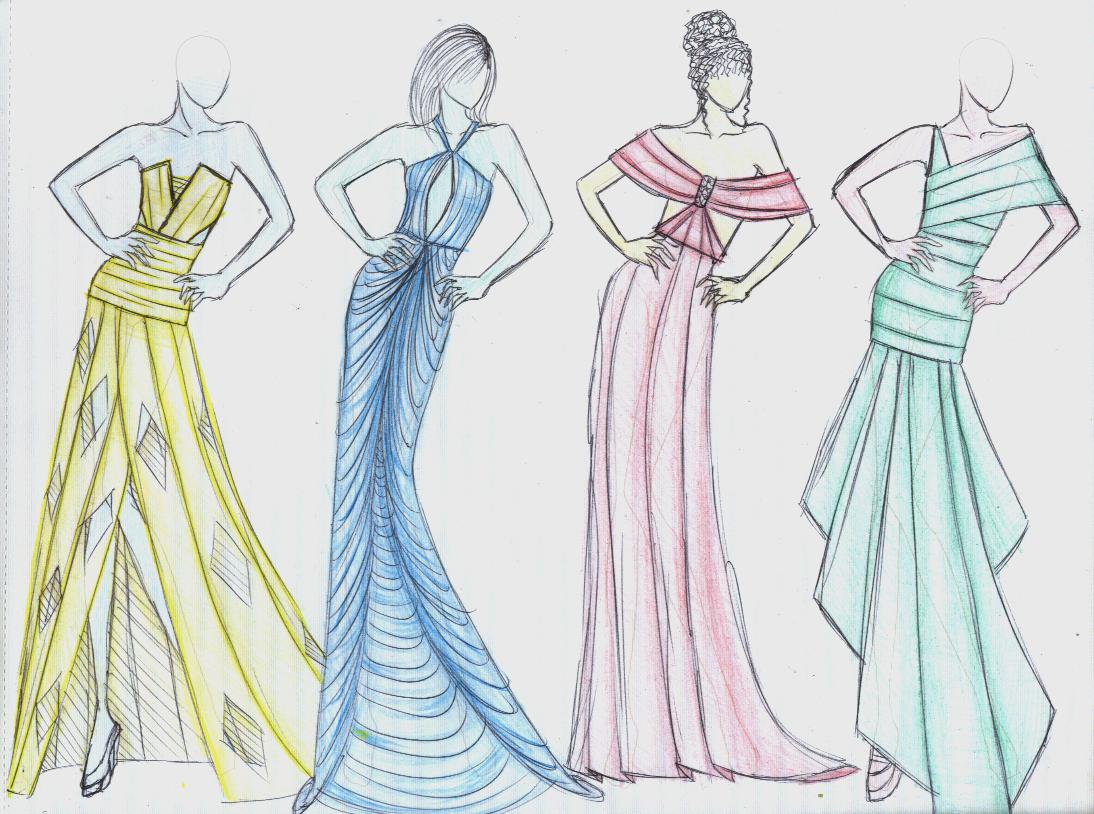 Wallpaper Dress Design