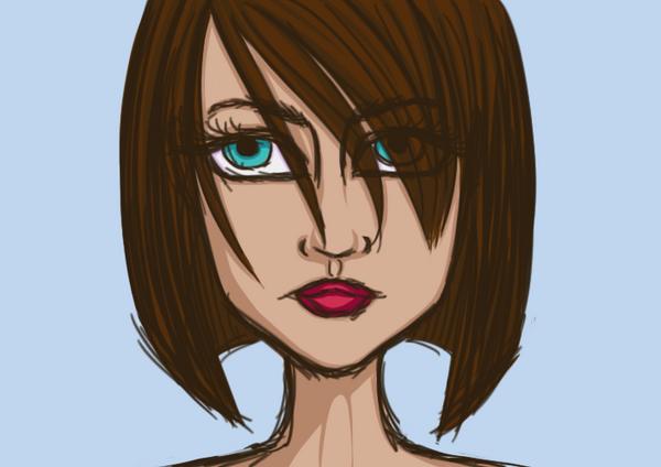 Photoshop Head Sketch Basic Shading by Mitsu-Chiruno
