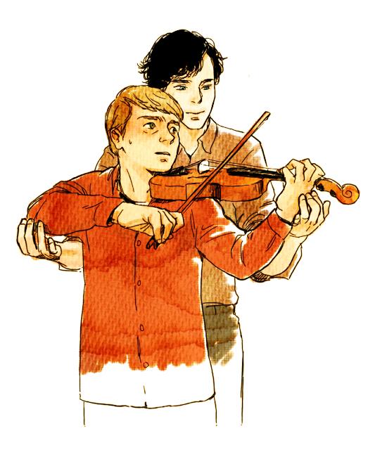 Sherlock+John by bennai