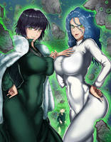 OnePunch man - Esper Girls by TheGoldenSmurf