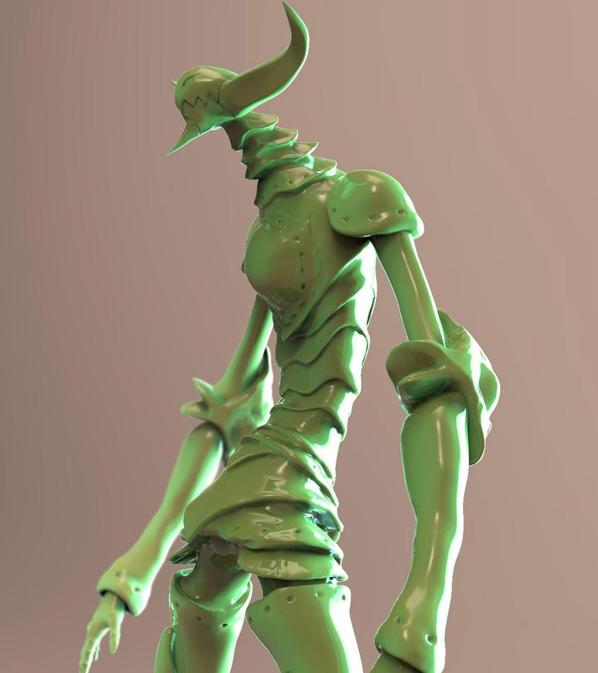 3D Garan by TheGoldenSmurf