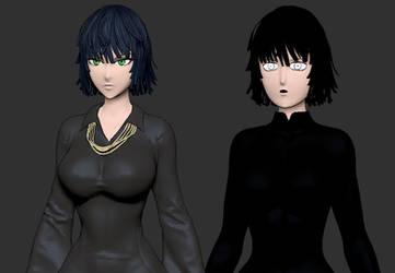 3D Manga vs Webcomic Fubuki by TheGoldenSmurf