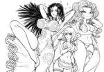 Hancock, Margaret and  Sandersonia (One Piece) by TheGoldenSmurf