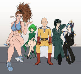 One Punch Man Heroines (wip 4) by TheGoldenSmurf