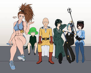 One Punch Man Heroines (wip 5) by TheGoldenSmurf