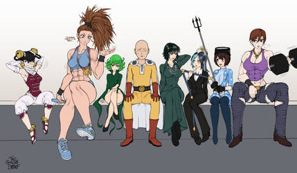 One Punch Man Heroines Wip 6 by TheGoldenSmurf