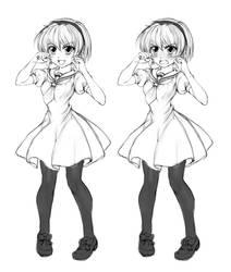 Satoko Hojo (Higurashi) - sketch