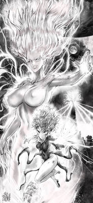 Tatsumaki vs Goddess Psykos (OnePunch Man)