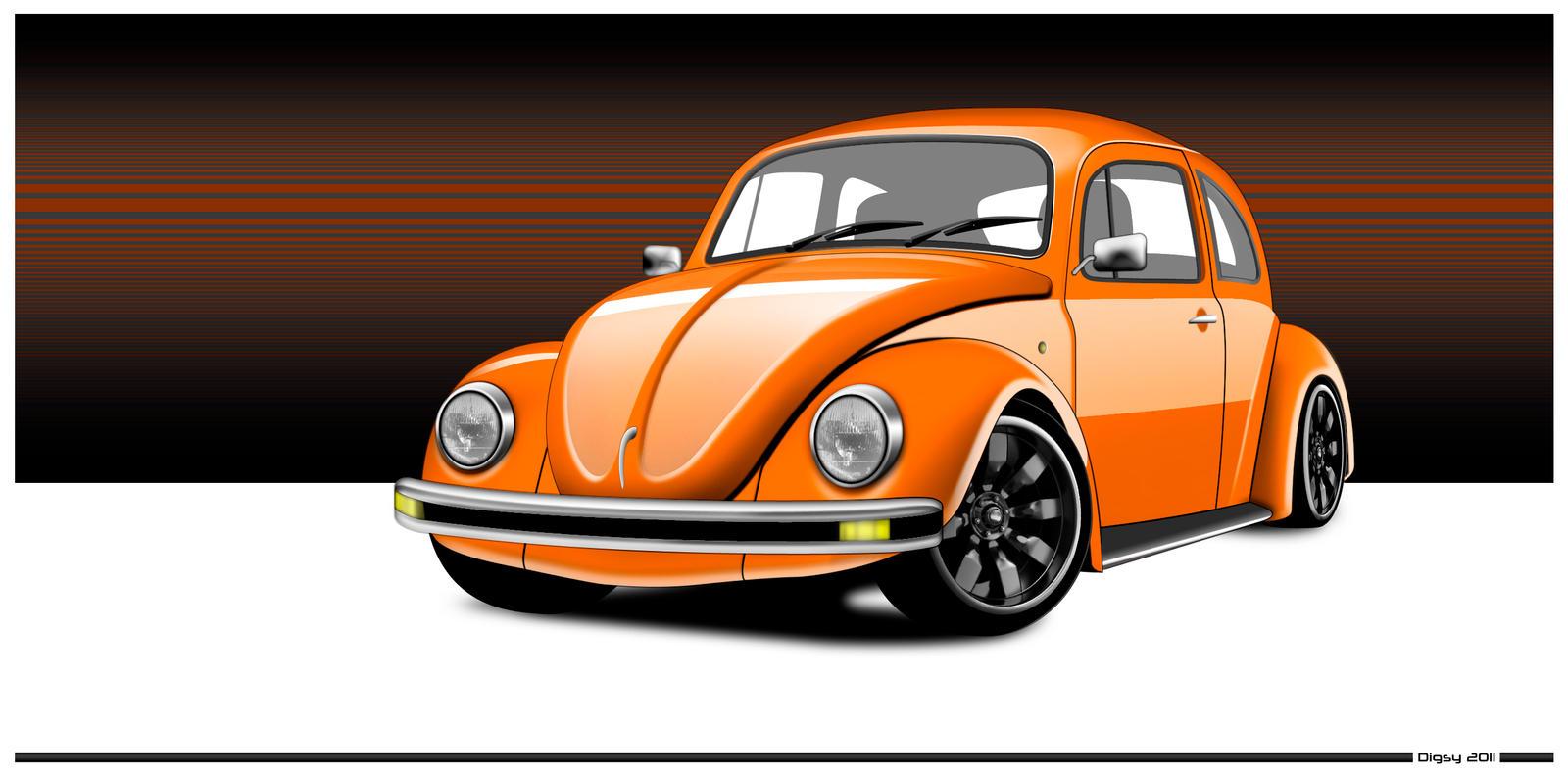 orange vw beetle by diggerruvella on deviantart. Black Bedroom Furniture Sets. Home Design Ideas