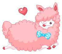 fluffy Cotton llama by cottoncritter