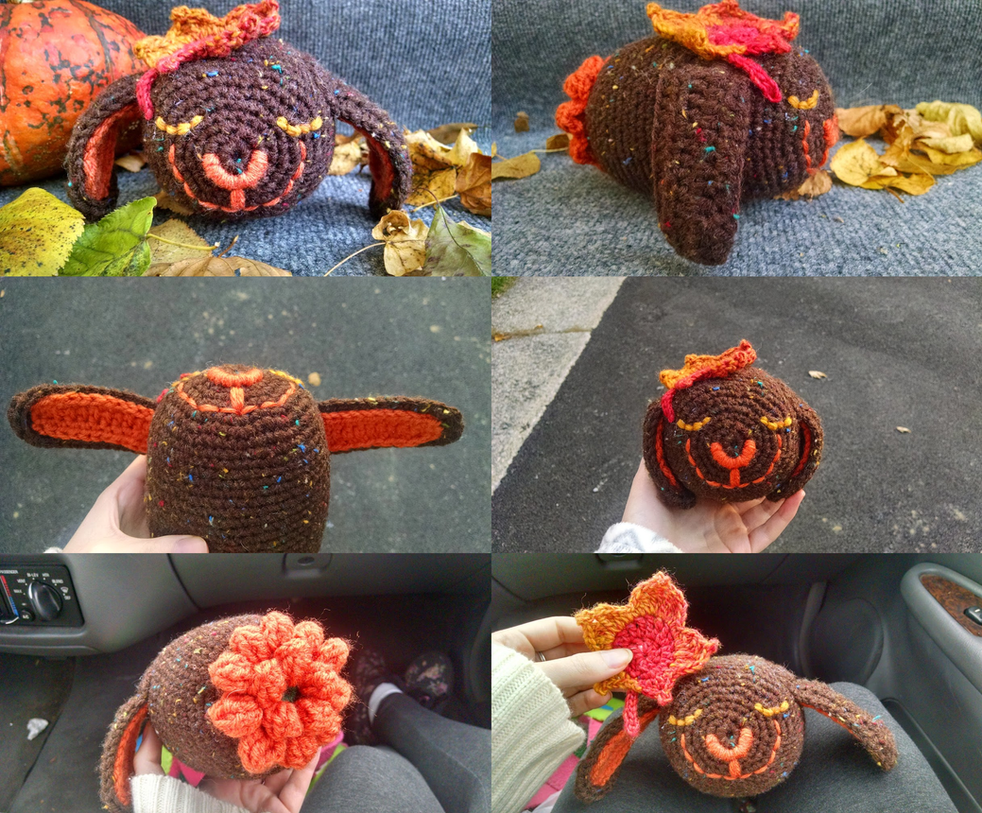 Crochet: Maple the Autumn Bunny by cottoncritter