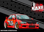 Mitsubishi Lancer Evolution IX by RaxeNinetySevenArte