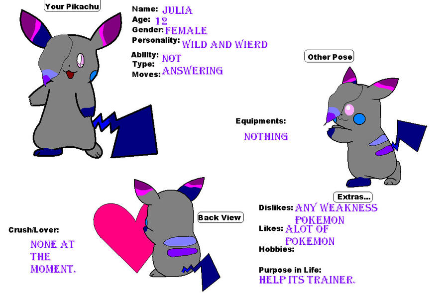 Julia ref sheet? by SekitaLuna
