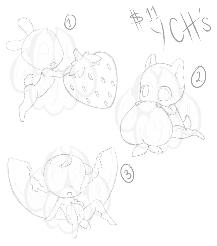 Chibi Fruit YCHs [Closed] by Wan-Nya