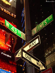 43rd and Times Square by adryroseinbloom