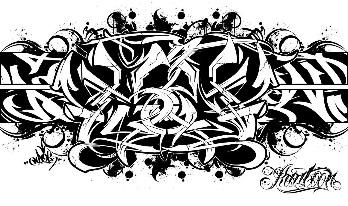 Graffiti alphabet coloring pages