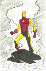 Iron Man hand colored. by ironman150