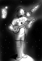 Banjoes in space by Robobotnik