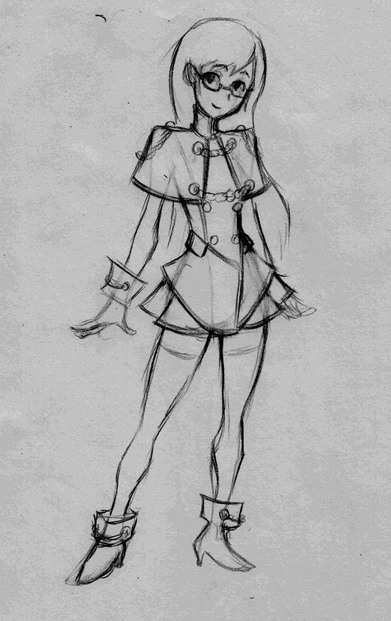 Magical Girl Rough art by Robobotnik