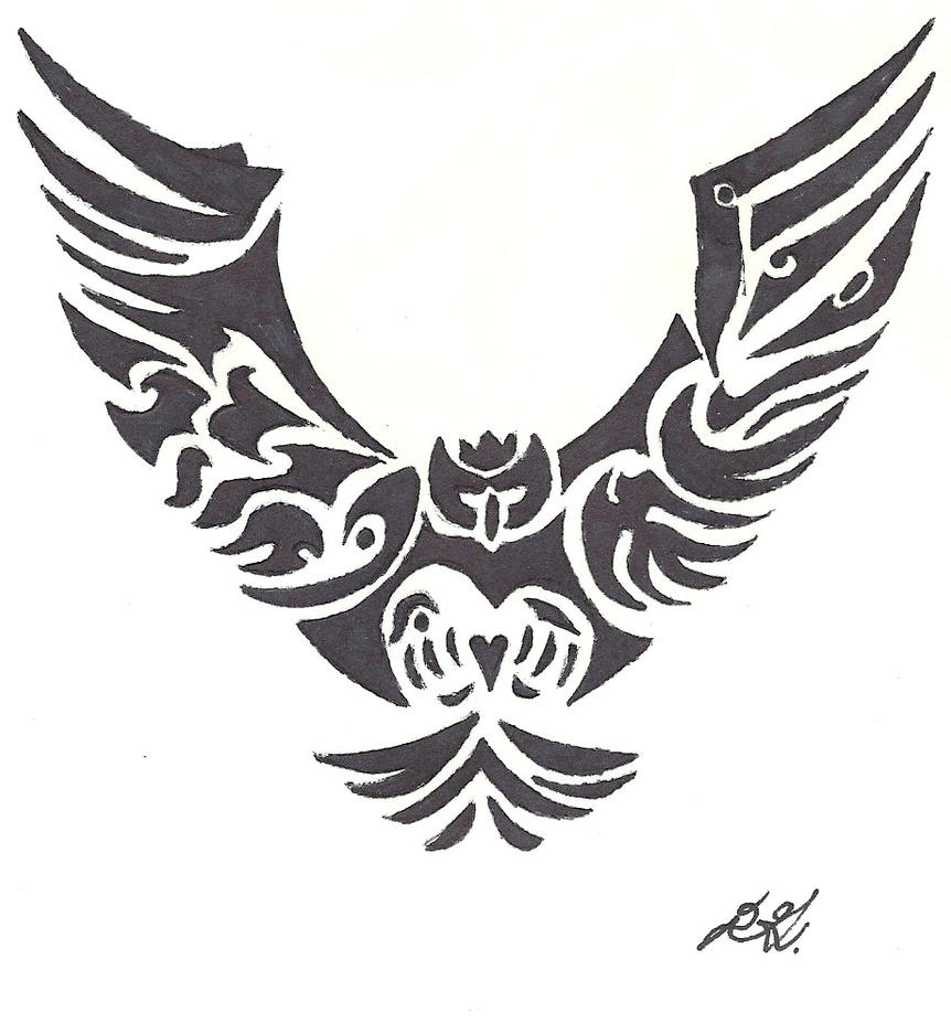 Tribal Owl Tattoo Design Picture 3