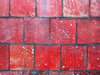 crackled red tiles by synesthesea