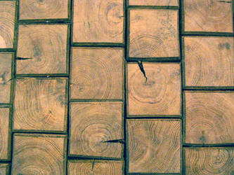 wooden floor tiles by synesthesea